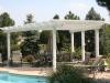 white-custom-free-standing-pergola-by-pool